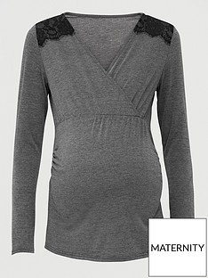 v-by-very-maternity-wrap-nursingnbsptop-with-lace-trim-grey