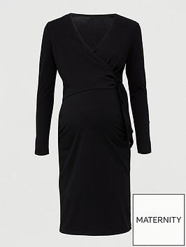 v-by-very-maternity-tie-wrap-nursingnbspdress-black