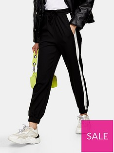topshop-side-stripe-joggers-mono