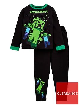 minecraft-boys-long-sleeve-pj-set-with-contrast-trims-black