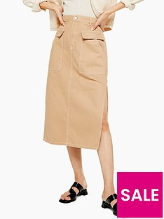 topshop-pocket-midi-skirt-sand