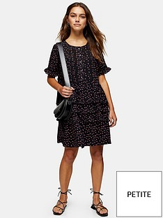 topshop-topshop-petite-ditsy-ladder-trim-mini-dress-black