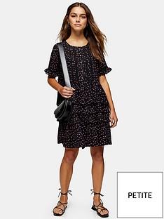 topshop-topshop-petite-ditsy-ladder-trim-mini-dress-black
