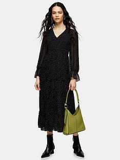 topshop-shirred-chuckon-midi-dress-mono