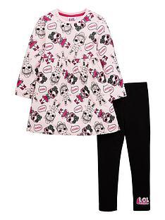 lol-surprise-girls-2-piece-skater-dress-and-legging-set-pink