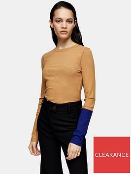 topshop-topshop-boutique-colourblock-long-sleeve-t-shirt-multi