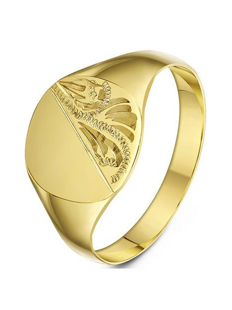 love-gold-9ct-yellow-gold-cushion-shape-patterned-signet-band