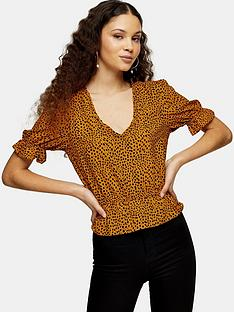 topshop-animal-printed-morgan-blouse