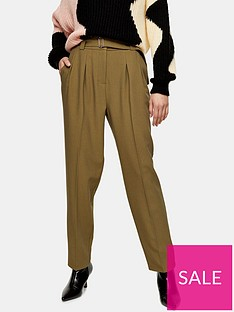 topshop-lima-belted-trousers-khaki