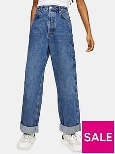 topshop-petite-oversized-mom-jeans-blue