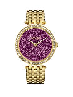 bulova-caravelle-purple-rocks-crystal-set-dial-gold-stainless-steel-bracelet-ladies-watch