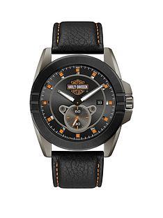 bulova-harley-davidson-by-bulova-black-leather-strap-black-dial-mens-watch