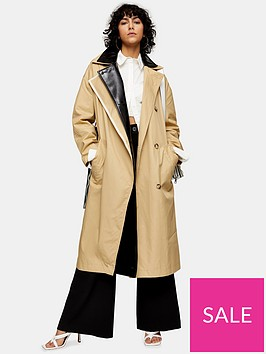 topshop-double-layer-trench-coat-multi