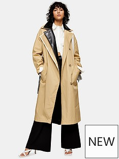 topshop-dubbie-2-layer-trench-coat-multi