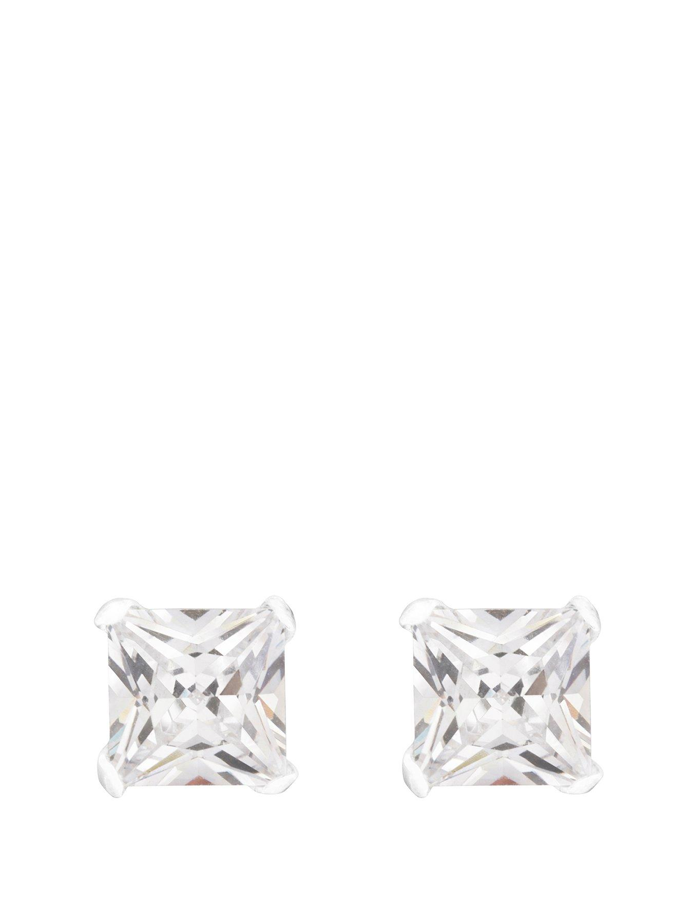 'GUESS' 3 Crystal Studs Pierced New Old Stock Earring By