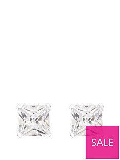 the-love-silver-collection-sterling-silver-5mm-princess-cut-cubic-zirconia-stud-earrings