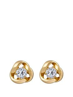 love-gold-9ct-gold-65mm-three-way-knot-studs-with-3mm-cubic-zirconia