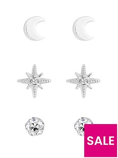simply-silver-simply-silver-moon-and-star-three-pack-earrings