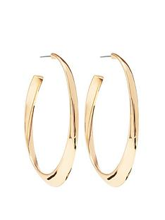 mood-gold-plated-polished-oval-hoop-earrings