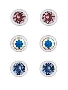 simply-silver-simply-silver-pack-of-three-besel-stud-earrings