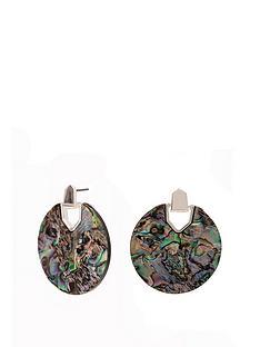 mood-multicolour-resin-disc-stud-earrings
