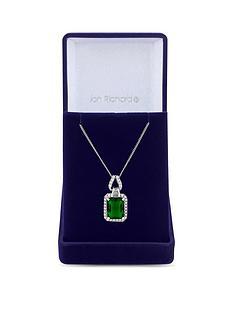 jon-richard-cubic-zirconia-emerald-pendant-necklace