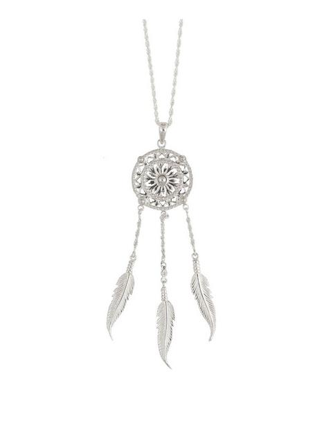 the-love-silver-collection-sterling-silver-large-statement-dreamcatcher-necklace