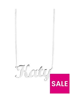 the-love-silver-collection-sterling-silver-personalised-script-name-necklace-on-adjustable-curb-chain