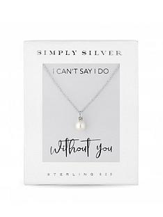 simply-silver-simply-silver-cubic-zirconia-fresh-water-pearl-pendant-necklace