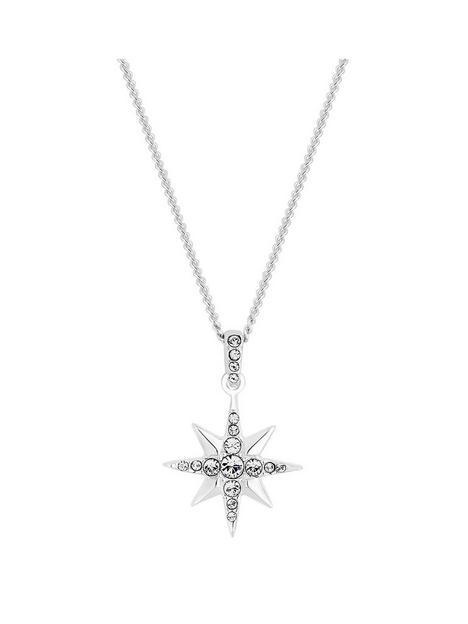 simply-silver-simply-silver-swarovski-north-star-pendant-necklace