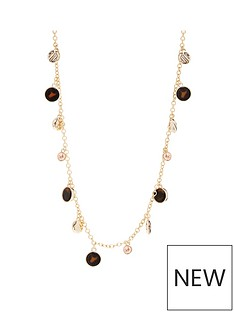 mood-gold-plated-tortoise-shell-resin-rope-necklace