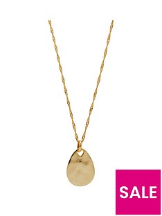 simply-silver-14ct-gold-plated-sterling-silver-fluid-pear-drop-pendant-necklace