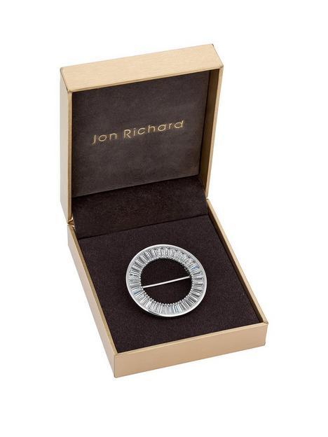 jon-richard-cubic-zirconia-circle-brooch