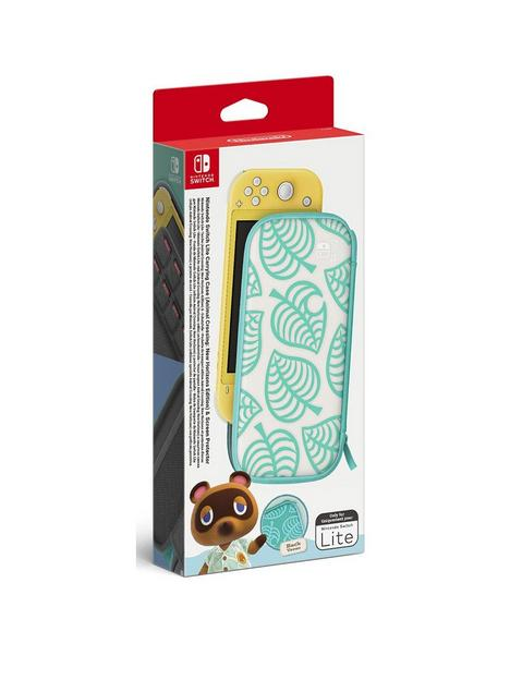 nintendo-switch-lite-nintendo-switch-lite-animal-crossing-new-horizons-carrying-case-screen-protector