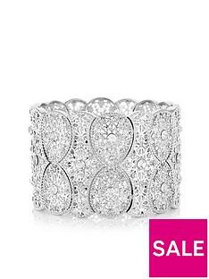 mood-mood-silver-plated-filigree-statement-stretch-bracelet