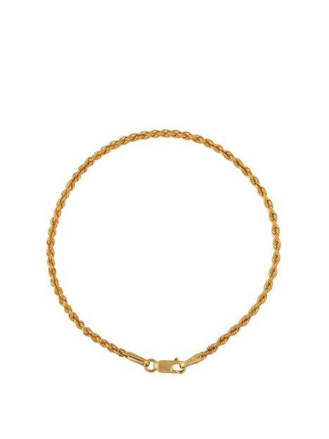 love-gold-9ct-gold-19cm-rope-chain-bracelet