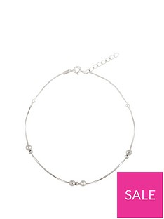 the-love-silver-collection-sterling-silver-beaded-snake-chain-anklet