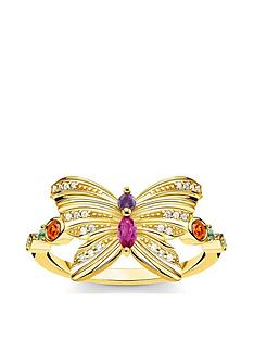thomas-sabo-thomas-sabo-gold-plated-sterling-silver-butterfly-ring