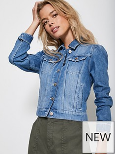 mint-velvet-puff-shoulder-denim-jacket-blue