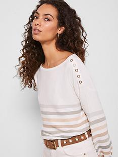 mint-velvet-cotton-stripe-jumper-ivory