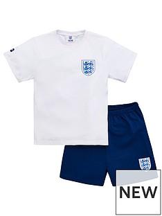 england-boysnbspfootballnbspshortie-pyjamas-white