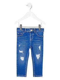 river-island-mini-mini-girls-ripped-molly-skinny-jeans-blue