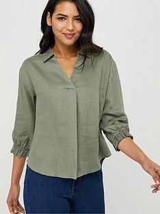 monsoon-cynthia-linen-blouse-khaki