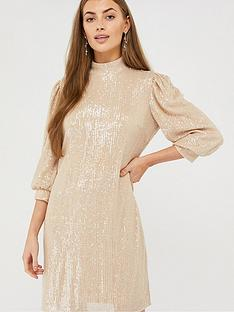 monsoon-adara-sequin-short-dress-blush