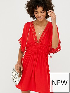 accessorize-geo-lace-kaftan-red