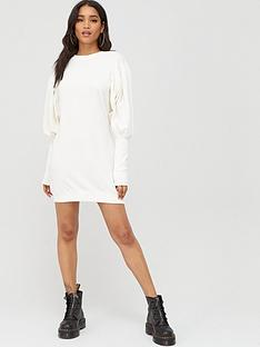 boohoo-boohoo-puff-sleeve-extreme-cuff-sweatshirt-dress-white
