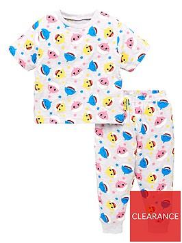 baby-shark-unisex-baby-all-over-print-t-shirt-pj-set-grey