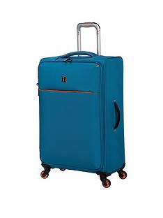 it-luggage-glint-medium-suitcase-teal-with-orange-trim