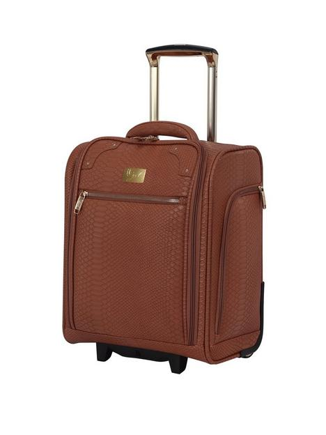 it-luggage-compelling-tan-underseat-suitcase