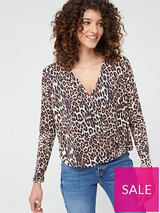 v-by-very-wrapnbspblouson-top-animal-print